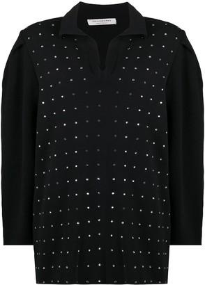 Philosophy di Lorenzo Serafini Crystal-Embellished Knitted Mini Dress