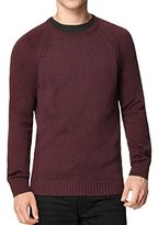 Calvin Klein Jeans Men's Mixed Guage Crew Neck Sweater