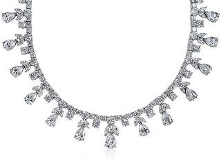 Bling Jewelry Vintage Style AAA CZ Cubic Zirconia Multi Teardrop Statement Necklace