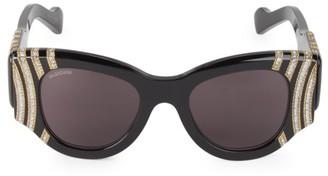 Balenciaga 50MM Embellished Cat Eye Sunglasses