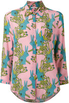 L'Autre Chose rabbits print shirt - women - Silk - 40