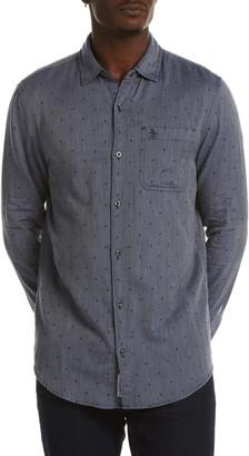 Original Penguin Reversible Mini Square Cotton Button-Up Shirt
