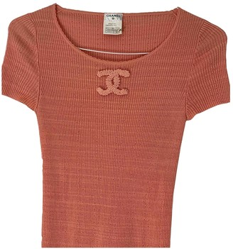 Chanel Pink Cotton Top for Women Vintage