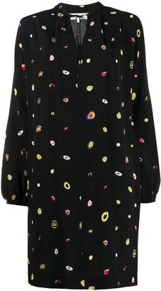 Diane von Furstenberg abstract dot-print shift dress