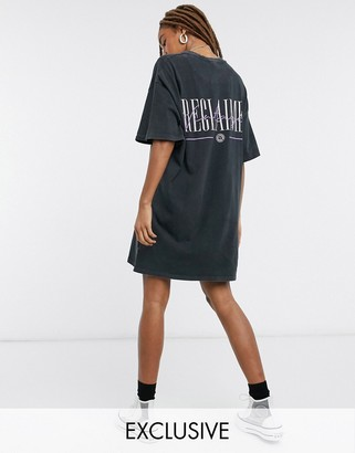 Reclaimed Vintage inspired oversized t-shirt dress with logo print