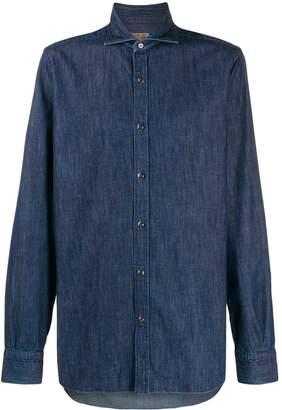 Barba long sleeve denim shirt