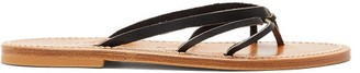 K. Jacques Metelis Leather Slides - Womens - Black