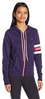 U.S. Polo Assn. Women's Hooded Jacket with Stripes on One Sleeve