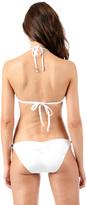 Voda Swim White Natural Gold Sandstone Hipster Bottom w/ Half Back Scrunch