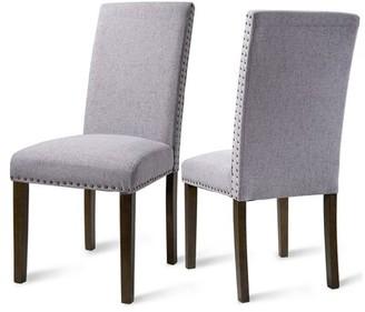 Red Barrel Studioâ® Upholstered Parsons Chair Red Barrel StudioA Upholstery Color: Beige