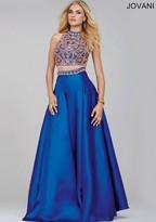Jovani Stunning Two-Piece A-Line Dress in Jewel Neckline 32440