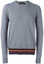 No.21 striped hem pullover