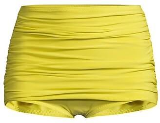 Norma Kamali Bill Ruched Bikini Bottoms