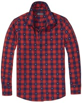Tommy Hilfiger Th Kids Dobby Plaid Shirt