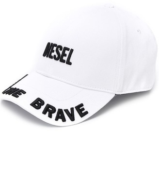 Diesel 3D finish embroidered logo cap
