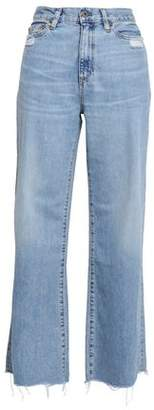 Simon Miller Distressed High-rise Wide-leg Jeans