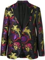 Versace Baroque print single breasted blazer