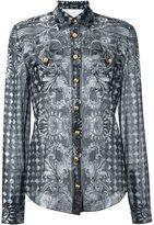 Balmain baroque print shirt - women - Cotton/Silk - 42