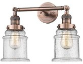 Laurèl Greeley 2-Light Dimmable Vanity Light Foundry Modern Farmhouse Finish: Antique Copper