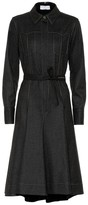 Brunello Cucinelli Stretch-wool shirt dress