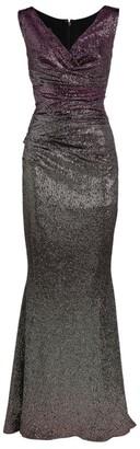 Talbot Runhof Bossa Mirrorball Ruched-Detail Gown