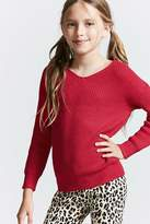 FOREVER 21 girls Girls Lace-Up Sweater (Kids)