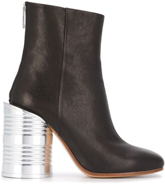 MM6 MAISON MARGIELA Tin Can Heel Ankle Boot