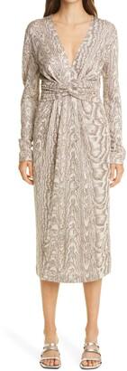 Missoni Wood Grain Pattern Knit Dress