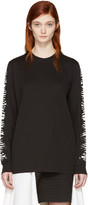 Proenza Schouler Black Zebra Sleeves T-Shirt