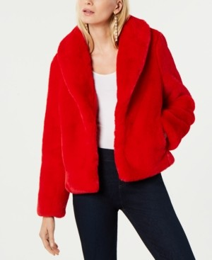 INC International Concepts Inc Faux-Fur Coat, Created for Macy's