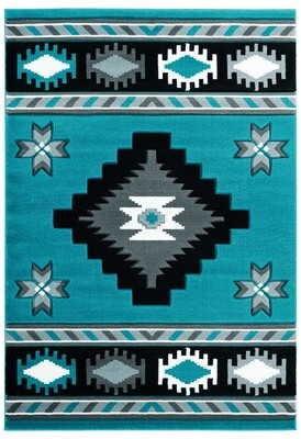 """Sheridan Millwood Pines Turquoise/Black/Gray Area Rug Millwood Pines Rug Size: Rectangle 1'10"""" x 2'8"""""""