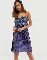 Liquorish sequin cami mini dress