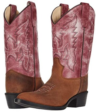 Old West Kids Boots Rose (Toddler/Little Kid) (Tan) Girl's Shoes
