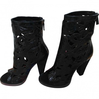 Balmain Black Patent leather Ankle boots