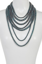 Natasha Accessories Multi Row Bead Necklace