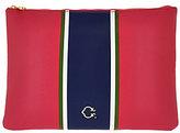 C. Wonder As Is Large Racing Stripe Printed Zip Top Pouch
