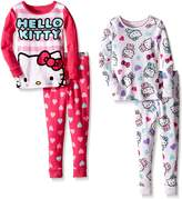 Komar Kids Little Girls' Hello Kitty 4 Piece Cotton Sets