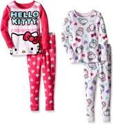 Komar Kids Little Girls' Hello Kitty 4 Piece Cotton Sets