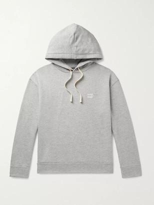 A.P.C. Jason Logo-Print Melange Loopback Cotton And Modal-Blend Jersey Hoodie