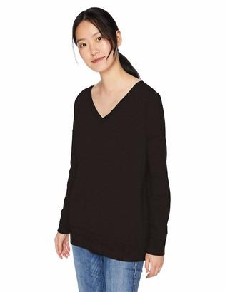 Daily Ritual Amazon Brand Women's Oversized Terry Cotton and Modal V-Neck Drop-Shoulder Sweatshirt