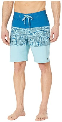 Quiksilver Waterman Angler Triblock 20 Beachshorts (Classic Blue) Men's Swimwear