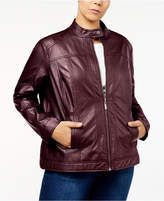Joujou Jou Jou Trendy Plus Size Faux-Leather Jacket