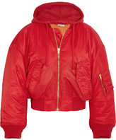 Vetements Hooded Shell Bomber Jacket - Red