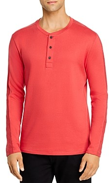 Billy Reid Pleated Rib Henley