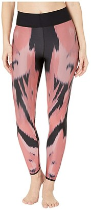 ULTRACOR Nautilus Ultra High Leggings (Coral Print/Patent Nero) Women's Casual Pants