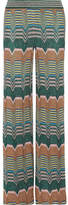Missoni Metallic Crochet-knit Wide-leg Pants - Green