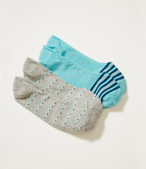 LOFT Triangle and Stripe No Show Sock Set