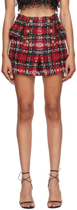 Balmain Multicolor Tweed Tartan Shorts