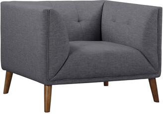 Hudson Armen Living Mid-Century Button-Tufted Chair