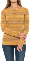 Columbia Hood Mountain Lodge Jacquard Henley Shirt - Long Sleeve (For Women)